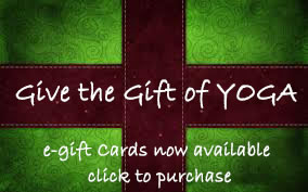 e-gift cards now available at bedrock YOGA in Manassas