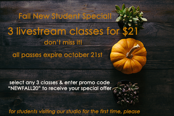 fall livestream new student special