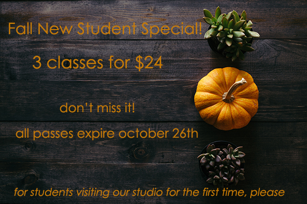 New Student Special 3 classes for $24 at bedrock YOGA in Manassas